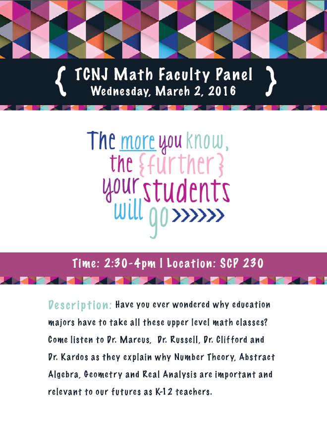 Mathematics and Statistics Colloquium: Wednesday, March 2